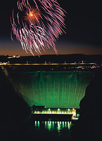 Glen Canyon Dam on July 4th